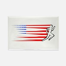 Athletics Runner - USA Rectangle Magnet