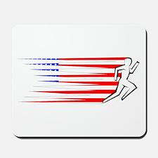Athletics Runner - USA Mousepad
