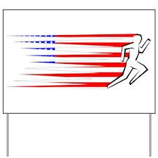 Athletics Runner - USA Yard Sign
