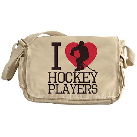 Hockey Players Messenger Bag