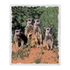 MEERKAT FAMILY PORTRAIT Throw Blanket