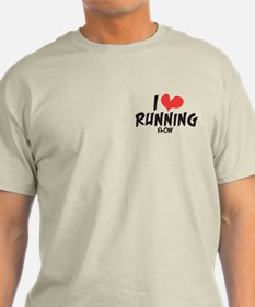 Funny I heart running slow T-Shirt