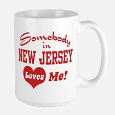 Somebody in New Jersey Loves Me Large Mug