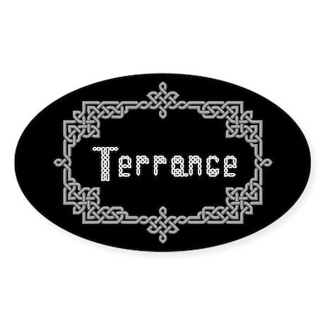 """""""Celtic Knots Terrance"""" Oval Sticker"""