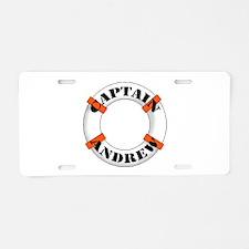 Cute Marina Aluminum License Plate