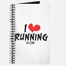Funny I heart running slow Journal