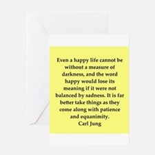 Carl Jung quotes Greeting Card