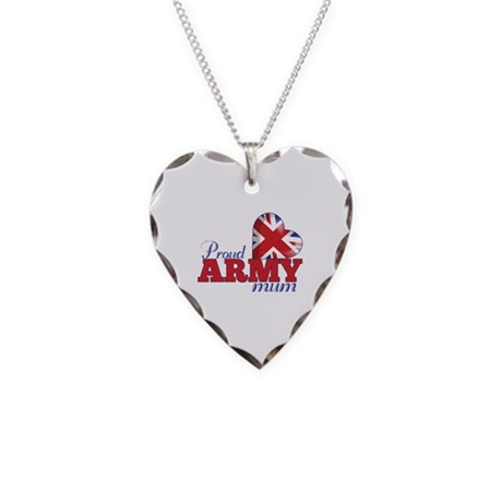 Proud Army Mum - Necklace Heart Charm