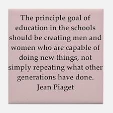 Jean Piaget quotes Tile Coaster