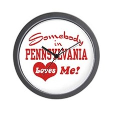 Somebody in Pennsylvania Loves Me Wall Clock