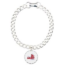 Proud Army Mother - Charm Bracelet, One Charm