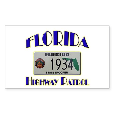 Florida Highway Patrol Sticker (Rectangle)