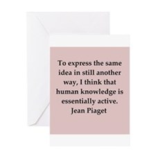 Jean Piaget quotes Greeting Card