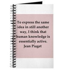 Jean Piaget quotes Journal