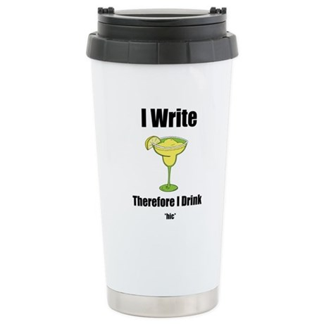 I Write therefore I Drink Stu Stainless Steel Trav