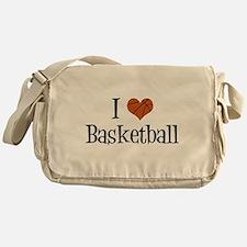 I Heart Basketball Messenger Bag