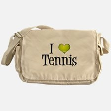 I Heart Tennis Messenger Bag