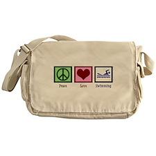 Peace Love Swimming Messenger Bag