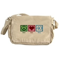 Peace Love 40 Messenger Bag