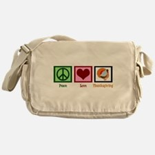 Peace Love Thanksgiving Messenger Bag