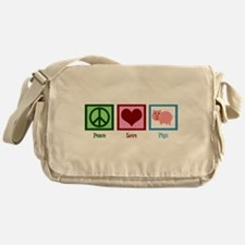 Peace Love Pigs Messenger Bag