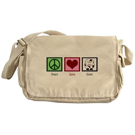 Peace Love Cows Messenger Bag