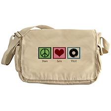 Peace Love Vinyl Messenger Bag