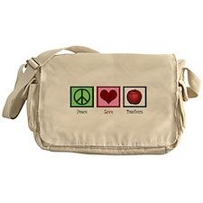 Peace Love Teachers Messenger Bag