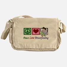 Peace Love Breastfeeding Messenger Bag