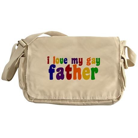 I Love My Gay Father Messenger Bag
