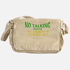 No Talking During Castle Messenger Bag