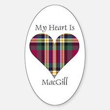 Heart - MacGill Sticker (Oval)