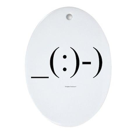 Suba Diver Emoticon Ornament (Oval)