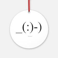 Suba Diver Emoticon Ornament (Round)