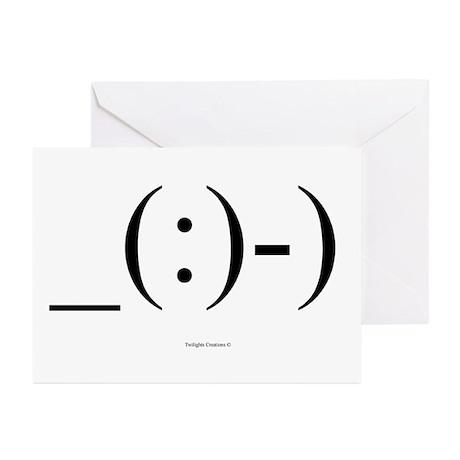 Suba Diver Emoticon Greeting Cards (Pk of 10)