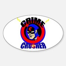 CRIME CRUSHER Oval Decal
