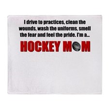 Hockey Mom Throw Blanket