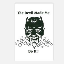 THE DEVIL MADE ME DO IT! Postcards (Package of 8)
