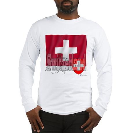 Silky Flag of Switzerland Long Sleeve T-Shirt