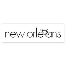Bike New Orleans Bumper Bumper Sticker