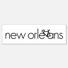 Bike New Orleans Bumper Bumper Sticker