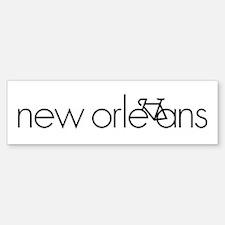 Bike New Orleans Sticker (Bumper)