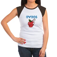 OYOOS Kids Appleworm design Women's Cap Sleeve T-S