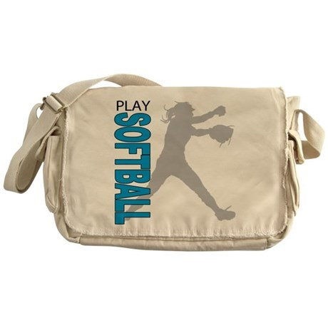 Girls Softball Messenger Bag