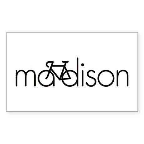 Bike Madison Sticker (Rectangle)