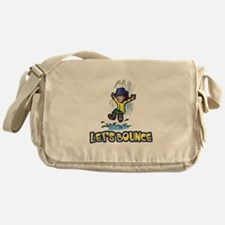 Let's Bounce Jumping in Puddl Messenger Bag