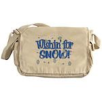Wishin' For Snow Messenger Bag