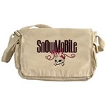 Snowmobile Girl Skull Messenger Bag