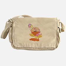 Cute Baby Girl Ducky Duck Messenger Bag