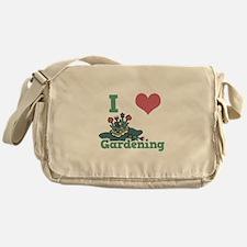 I Love (Heart) Gardening Messenger Bag
